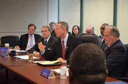 Governor Martin O'Malley visits GBC board meeting