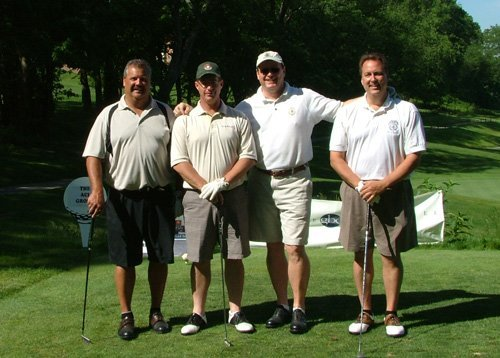 Golf Classic Winners: (left to right) Doug Wolfe, Dave Thomas, Dan Spack, and Mike Miller.
