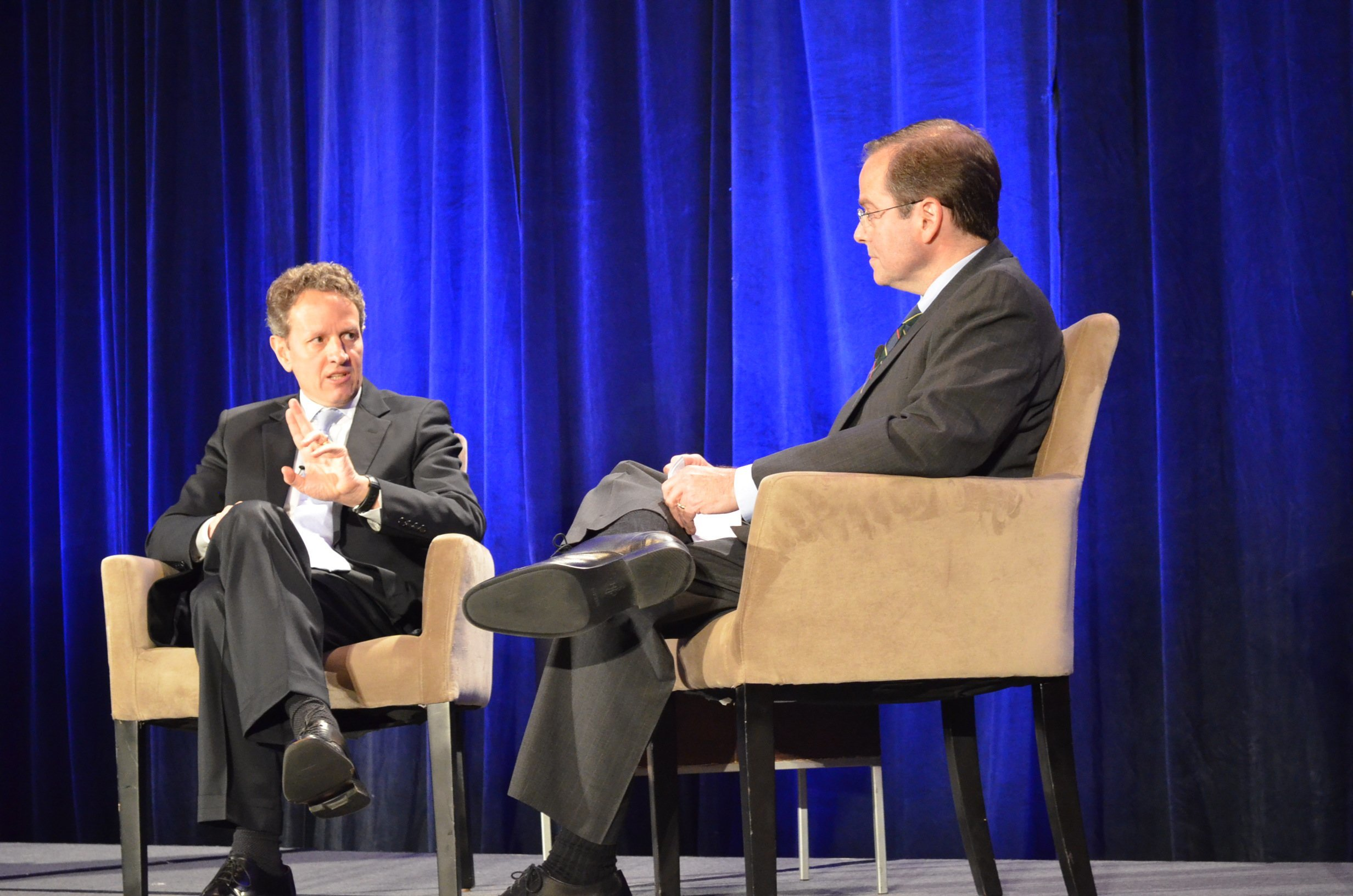 U.S. Secretary Treasurer Timothy Geithner and Maryland Public Television's Jeff Salkin