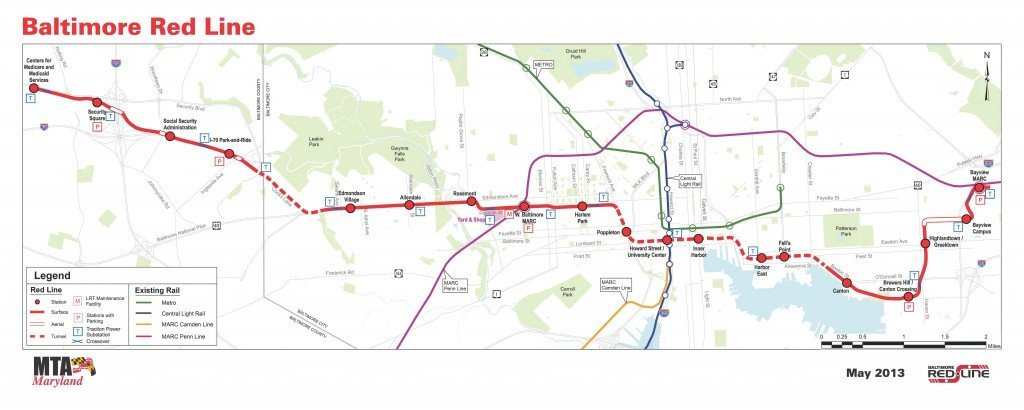 Red Line Project Corridor Map