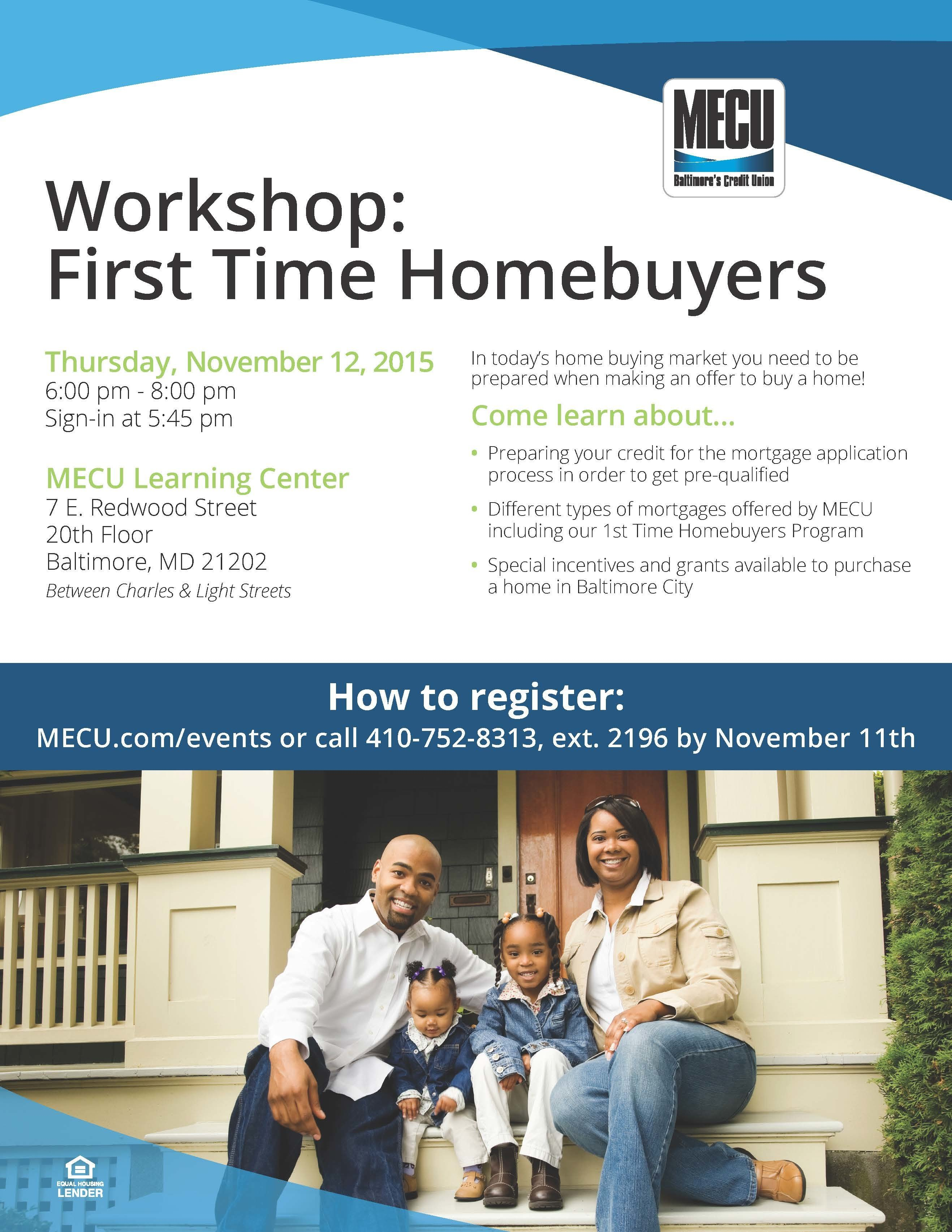 MECU First Time Home ers Workshop