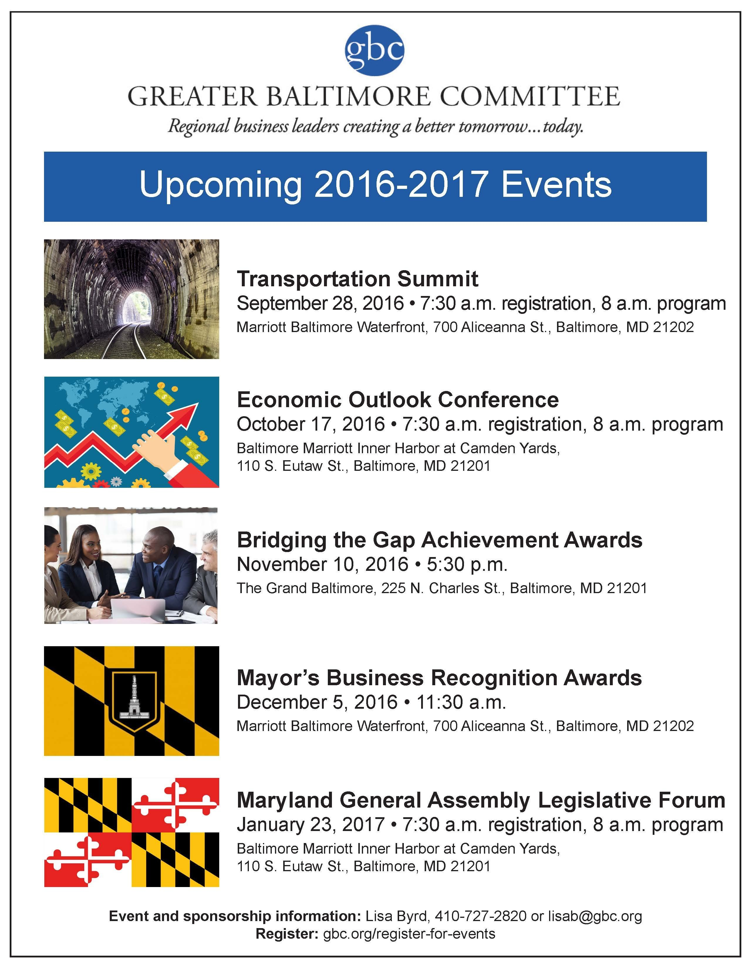 2016-17 Events Save the Date - 2