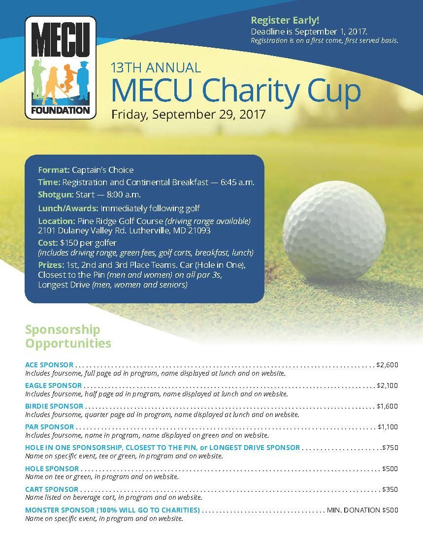 13th Annual MECU Charity Cup Golf Tournament @ Pine Ridge Golf Course | Lutherville-Timonium | Maryland | United States