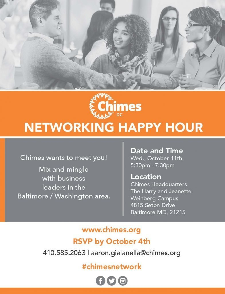 Chimes Networking Happy Hour @ Chimes Headquarters, The Harry and Jeanette Weinberg Campus | Baltimore | Maryland | United States