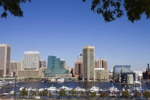 Baltimore Harbor Skyline