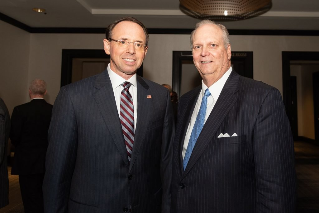 Rod Rosenstein and Don Fry at the 2019 Annual Meeting